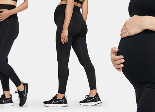 Pour la rentrée, Nike présente «Nike (M)» («M» pour Maternity); sa première collection de sport destinée aux femmes enceintes.