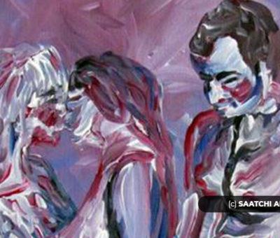 https://www.saatchiart.com/paintings/menage-a-trois/feature
