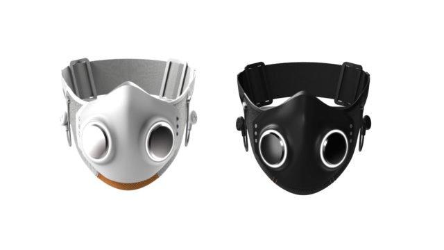 Xuper Mask de Will I Am via https://www.journaldugeek.com/2021/04/07/xupermask-un-masque-anti-covid-intelligent-signe-will-i-am/